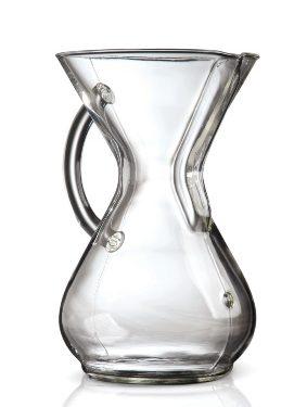 Zaparzacz Chemex Coffee Maker ze szklanym uchwytem.